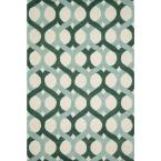Weston Lifestyle Collection Blue/Green 5 ft. x 7 ft. 6 in. Area Rug