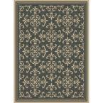 Williamson Black/Java 7 ft. 7 in. x 10 ft. 10 in. Indoor/Outdoor Area Rug