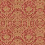 56 sq. ft. Venetian Red and Gold Roman Medallion Wallpaper