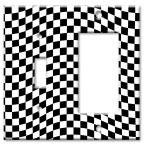 Checkered Racing Flag - Switch / Rocker Combo Wall Plate