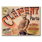 26 in. x 32 in. Clement Bicycles 1889 Canvas Art
