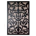 1/4 in. x 32 in. x 4 ft. Black Olive Branch Vinyl Decorative Panel