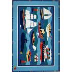 Olive Kids Boats and Buoys Multi Colored 39 in. x 58 in. Area Rug