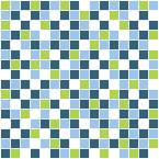 7.9 in. x 23.7 in. Mosaic Freshness Peel and Stick Tile Wall Decal