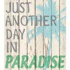 17.25 in. x 19.5 in. Paradise Wall Decal