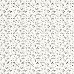 56 sq. ft. Black and White Mini Floral Trail Wallpaper