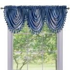 Ombre Waterfall 42 in. L Polyester Valance in Blue