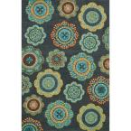 Taylor Lifestyle Collection Midnight/Teal 5 ft. x 7 ft. 6 in. Area Rug