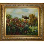 20 in. x 24 in. The Artist's Garden Hand-Painted Classic Artwork
