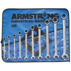 SAE 12-Point Combination Ratcheting Wrench Set with Wrench Roll (10-Piece)