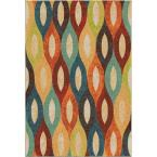 Dancing Stream Multi Bright Colors 5 ft. 3 in. x 7 ft. 6 in. Indoor Area Rug