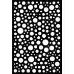 0.6 in. x 71.6 in. x 3.95 ft. Bubbles Recycled Plastic Charcoal Decorative Screen (4-Piece per Bundle)