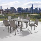 Urban 65 in. W Outdoor 7-Piece Dining Set in Aged Metal