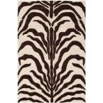 Cambridge Ivory/Brown 3 ft. x 5 ft. Area Rug