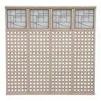 3 in. x 78.5 in. x 6.45 ft. Four High Lattice with Faux Glass Panel