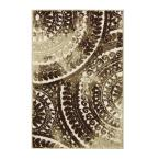 Spiral Medallion Ivory/Brown 3 ft. 3 in. x 4 ft. 7 in. Area Rug