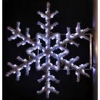 5 ft. Pre-Lit Pole Decorations Garland Snowflake with Pure White Lights