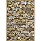 Cynthia Gold Viscose and Chenille 8 ft. 8 in. x 12 ft. Area Rug