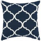 18 in. Landview Navy Square Outdoor Throw Pillow