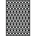 0.6 in. x 71.6 in. x 3.95 ft. Cubism Recycled Plastic Charcoal Decorative Screen (4-Piece per Bundle)