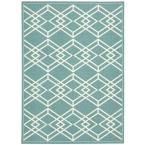 Enhance Turquoise 8 ft. x 10 ft. Area Rug