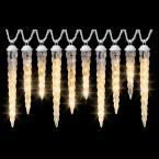 8-Light Classic White Shooting Star Varied Size Icicle Light Set