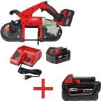 M18 18-Volt Lithium-Ion Cordless Band Saw with Free M18 4.0Ah Extended Capacity Battery