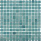 Ruidera Square Niebla Azul 13 in. x 13 in. x 5 mm Glass Mosaic Wall Tile