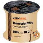 500 ft. 18/2 Grey Solid Thermostat Wire