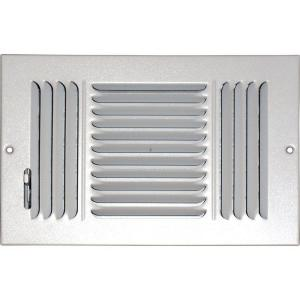 speedi-grille 4 in. x 10 in. ceiling/sidewall vent register, white