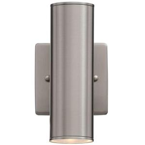 Hampton Bay Riga 2 Light Stainless Steel Outdoor Wall