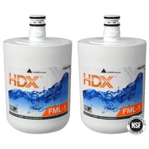 HDX FML Replacement Refrigerator Water Filter Twin Value Pack for LG Refrigerators by