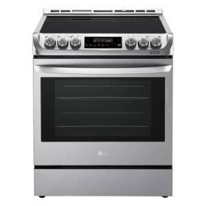 LG Electronics 6.3 cu. ft. Slide-In Electric Range with ProBake Convection Oven and EasyClean in Stainless Steel by