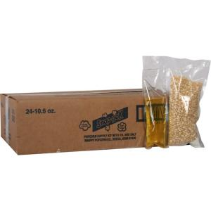 Snap-Pak 10.6 oz. White Popcorn, Oil and Seasoning Kit for 8 oz. Poppers (24-Pack) by Snap-Pak
