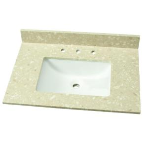 Home Decorators Collection 31 inch W Engineered Marble Single Vanity Top in Piatra Beige... by