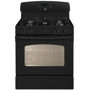 GE 5 cu. ft. Gas Range with Self-Cleaning Oven in Black