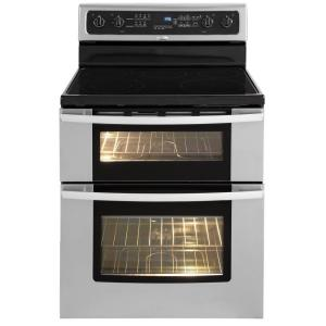 Whirlpool Gold 6.7 cu. ft. Double Oven Electric Range with Self-Cleaning Oven in Stainless Steel