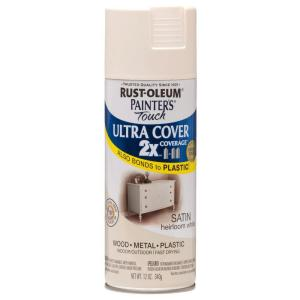 Rust-Oleum Painter's Touch 2X 12 oz. Satin Heirloom White General Purpose Spray Paint
