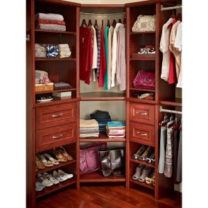 ClosetMaid Impressions 41.1 in. Dark Cherry Corner Unit-30810 - The Home  Depot