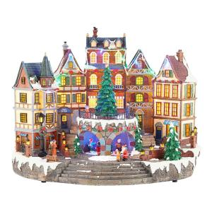 Village House in Christmas Decorations