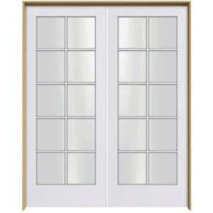 prehung interior french doors home depot jeld wen smooth 10 lite primed pine prehung interior 27394