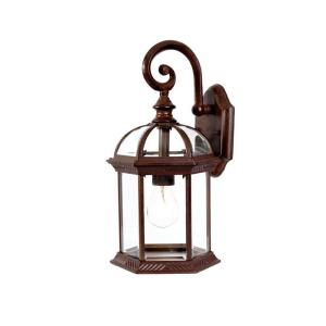Dover Collection 1-Light Burled Walnut Outdoor Wall-Mount Light Fixture