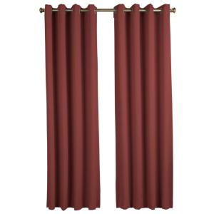 Blackout Ultimate Blackout Polyester Grommet Curtain Panel 56 inch W x 63 inch L Garnet by