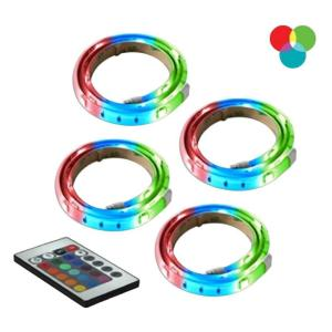 bazz rgb led tape light 4 pack jul60rm4 the home depot