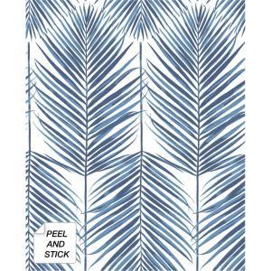Peel Stick Removable Blue Wallpaper Home Decor The Home Depot