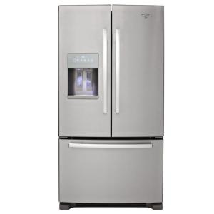 Whirlpool Gold 25 6 Cu Ft French Door Refrigerator In
