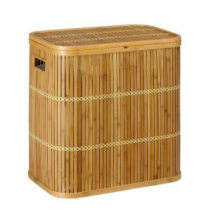 Home Decorators Collection Isle 22 in. H x 13 in. W Hamper in Bamboo-DISCONTINUED