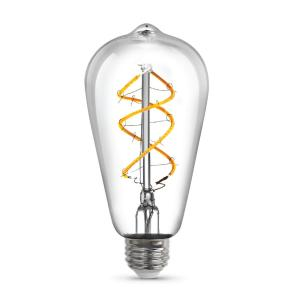 6.5-Watt Soft White (2150K) ST19 Dimmable LED Clear Vintage Style Light Bulb