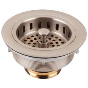 Thompson Traders 3.5 in. Kitchen Basket Strainer Drain in Satin Nickel Finish
