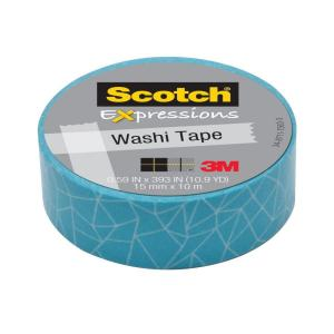 Scotch 0.59 in. x 10.9 yds. Cracked Expressions Washi Tape (Case of 36)